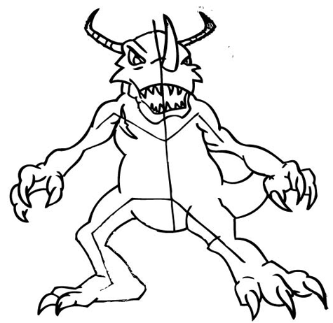 Step 10: Drawing Greymon with Step by Step Drawing Tutorial