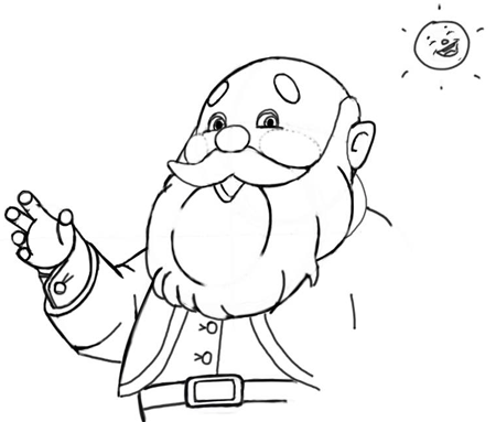 Step 10 : Drawing Santa Clause - Old Saint Nick with Easy Christmas Lesson