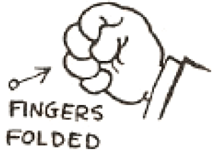 Drawing Cartoon Hands with Fingers Folded into a Fist