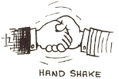 Drawing Cartoon Shaking Hands