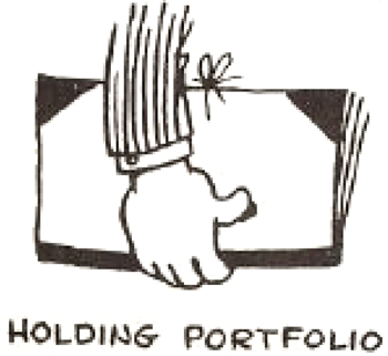 Drawing Cartoon Hands Holding Portfolio Books Folders