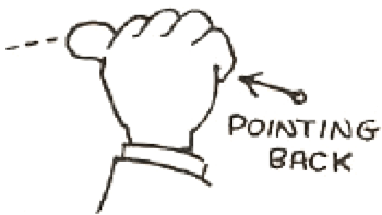 Drawing a Hitchhiking Thumb Back Hands