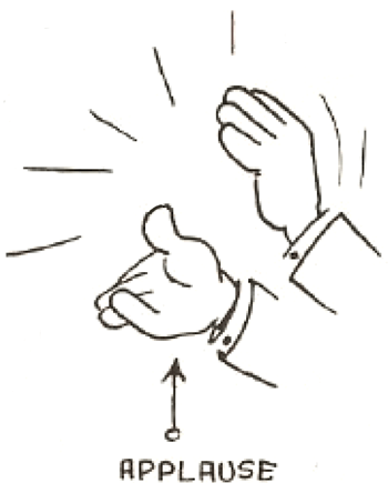 Drawing Cartoon Clapping Hands