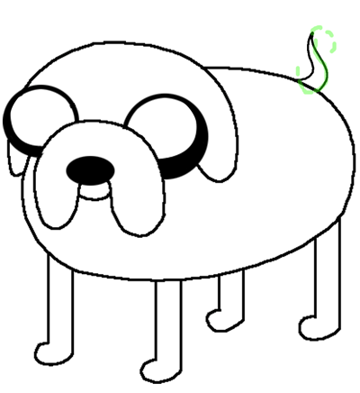 Step 7 - Drawing Jake the Dog in easy steps
