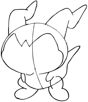 Step 8 Drawing DemiVeemon from Digimon with Easy Steps