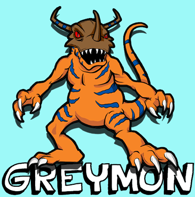 How to Draw Gremon from Digimon with Step by Step Drawing Lesson