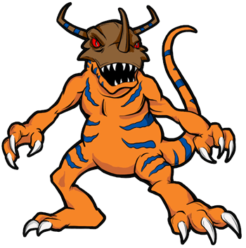 Finished Drawing of Greymon from Digimon