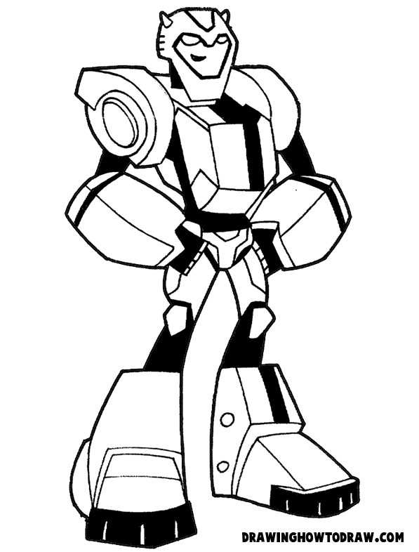 bumblebee coloring page - how to draw bumblebee from transformers with step by step