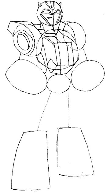 Step 6 Drawing Bumblebees Transformers