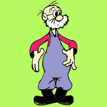 How to Draw a Cartoon Comic Old Farmer Man with Overalls Drawing Tutorial