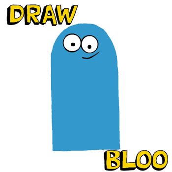 How to Draw Bloo from Foster's Home for Imaginary Friends