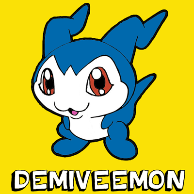 How to Draw DemiVeemon from Digimon with Step by Step Drawing Tutorial