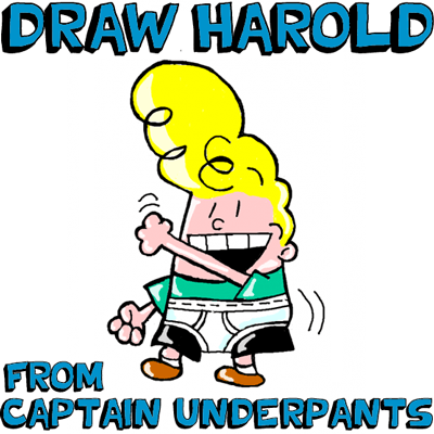 How to Draw Harold Hutchins from Captain Underpants with Simple Steps Drawing Lesson