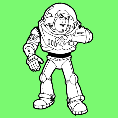 How to Draw Buzz Lightyear from Toy Story 1,2, and 3 with ...