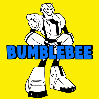 How to Draw BumbleBee from Transformers with Step by Step Drawing Tutorial for Kids