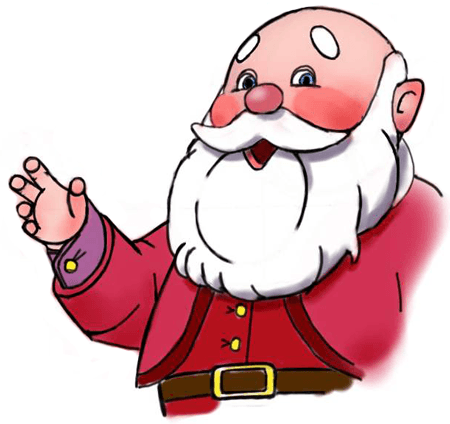 How to Draw This Jolly, Rosy Cheeked Santa Clause Character Step by Step