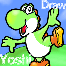 How To Draw Yoshi From Mario Luigi Video Games With Easy Step By