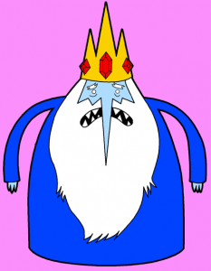 Finished Drawing of the Ice King from Adventure Time Cartoon