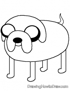 Coloring Page of Jake the Dog from Adventure Time