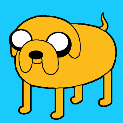 Finished - Colorized Jake the Dog Drawing