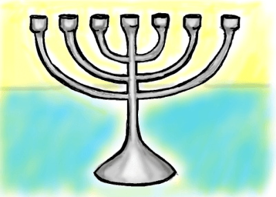 Finished Drawing of Hanukkah Menorahs