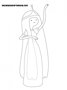 Princess bubblegum coloring book page to print out from adventure time