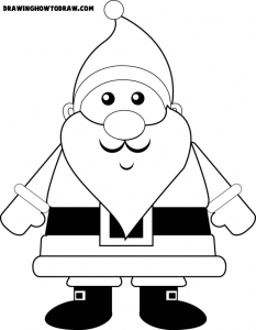 Santa Clause for Christmas Coloring Book Page Printable