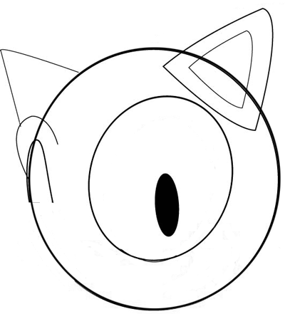 Step 2 : Drawing Sonic's Face