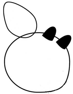 Step 1 : Drawing Rudolph the Rednosed Reindeer in Easy Steps Tutorial