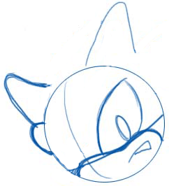 Step 2 : Drawing Shadow the Hedgehog in Easy Steps Lesson