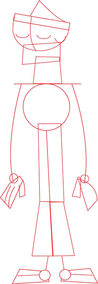 Step 2 : Drawing Duncan's Body in Easy Steps Lesson