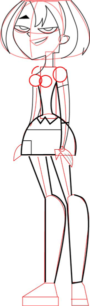 Step 4 How to Draw Gwen From Total Drama Island & Action Drawing Tutorial