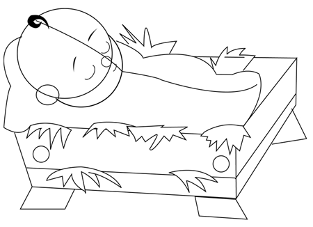 Step 4 : Drawing Baby Jesus Step by Step Lesson