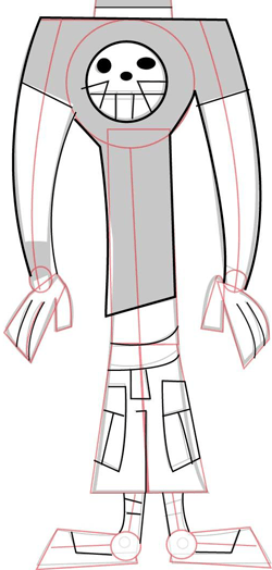 Step 4 : Drawing Duncan From Total Drama Island and Action
