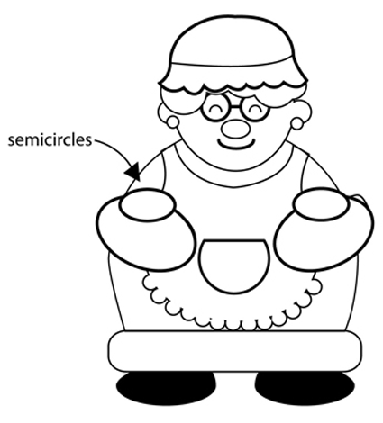 Step 4 : Drawing Mrs. Clause for Christmas with Easy Steps Tutorial