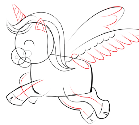 Step 4 : Drawing Unicorns in Easy Steps Tutorials