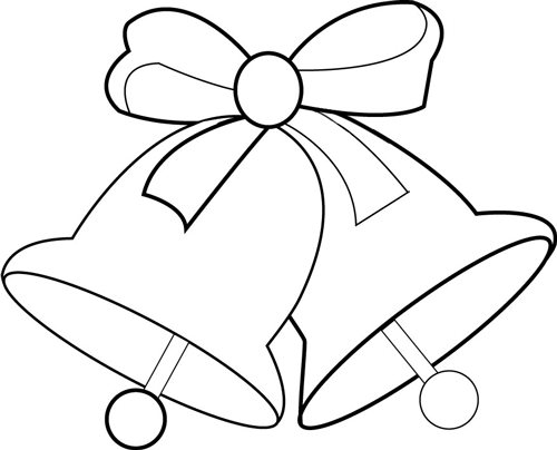 How to Draw Christmas Bells and Bow Step by Step Drawing ...