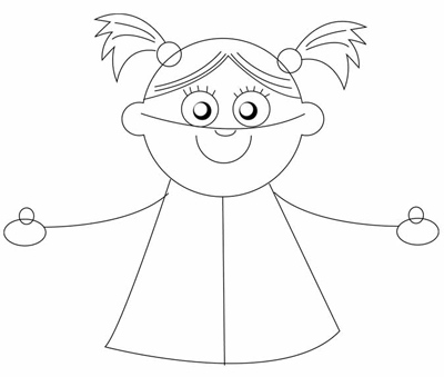 Step 5 : Drawing Toy Baby Dolls in Easy Steps
