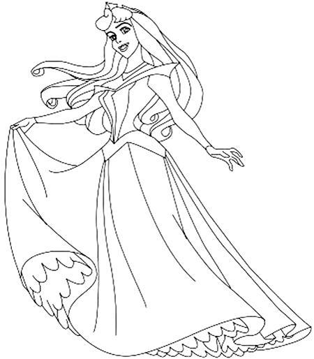 Step 6 How to Draw Sleeping Beauty Princess
