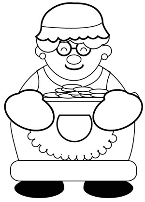 Step 6 : Drawing Mrs. Clause for Christmas with Easy Steps Tutorial