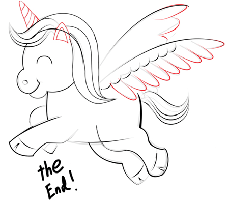 Step 6 : Drawing Unicorns in Easy Steps Tutorials