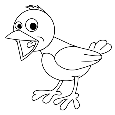 Step 7 : Drawing Birds Step by Step Drawing Tutorial for Kids