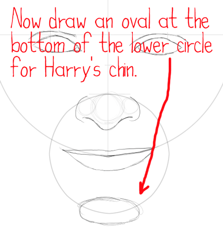 Step 9 : Drawing Harry Potter & Daniel Radcliffe with Easy Steps Tutorial