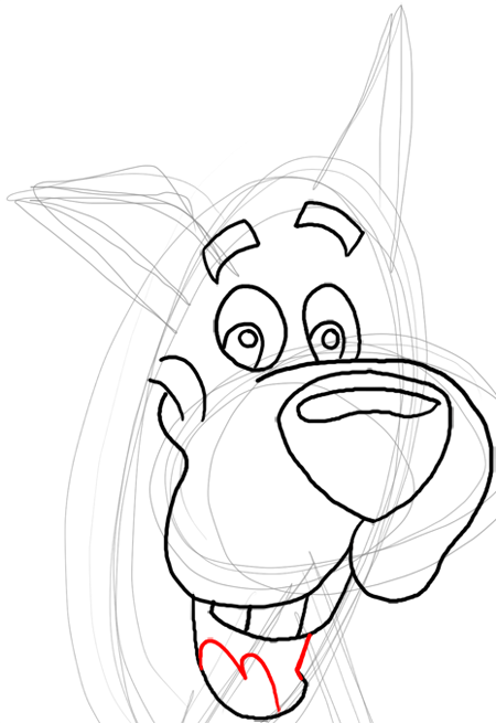 Step 9 : Drawing Scooby Doo Dog Easy Steps Lesson for Kids