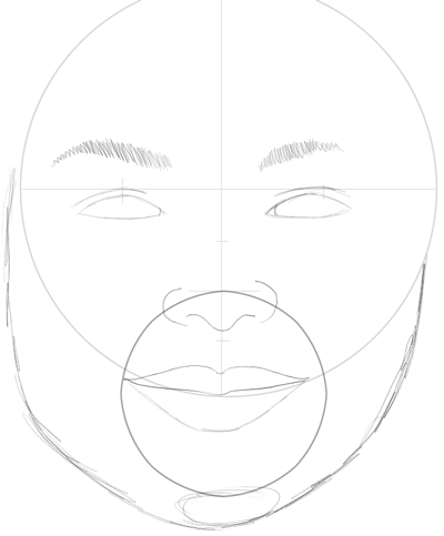 Step 10 : Drawing Carly Shay from Miranda Cosgrove with Easy Steps
