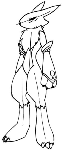 Step 10 Drawing Renamon from Digimon in Steps Drawing Lesson