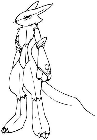 Step 11 Drawing Renamon from Digimon in Steps Drawing Lesson