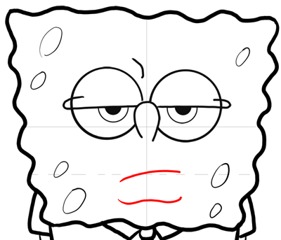 How To Draw Annoyed Spongebob Squarepants In Easy Steps