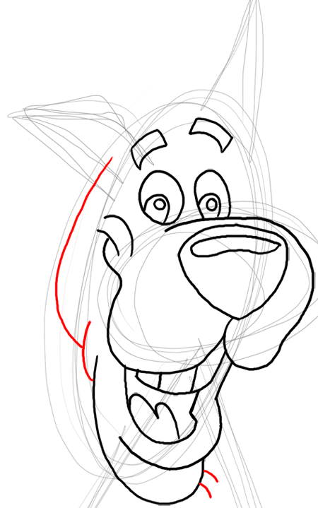 Step 12 : Drawing Scooby Doo Dog Easy Steps Lesson for Kids