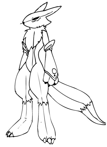 Step 12 Drawing Renamon from Digimon in Steps Drawing Lesson